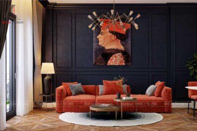 Nội thất chung cư The One Saigon 80m2 phong cach luxury 1