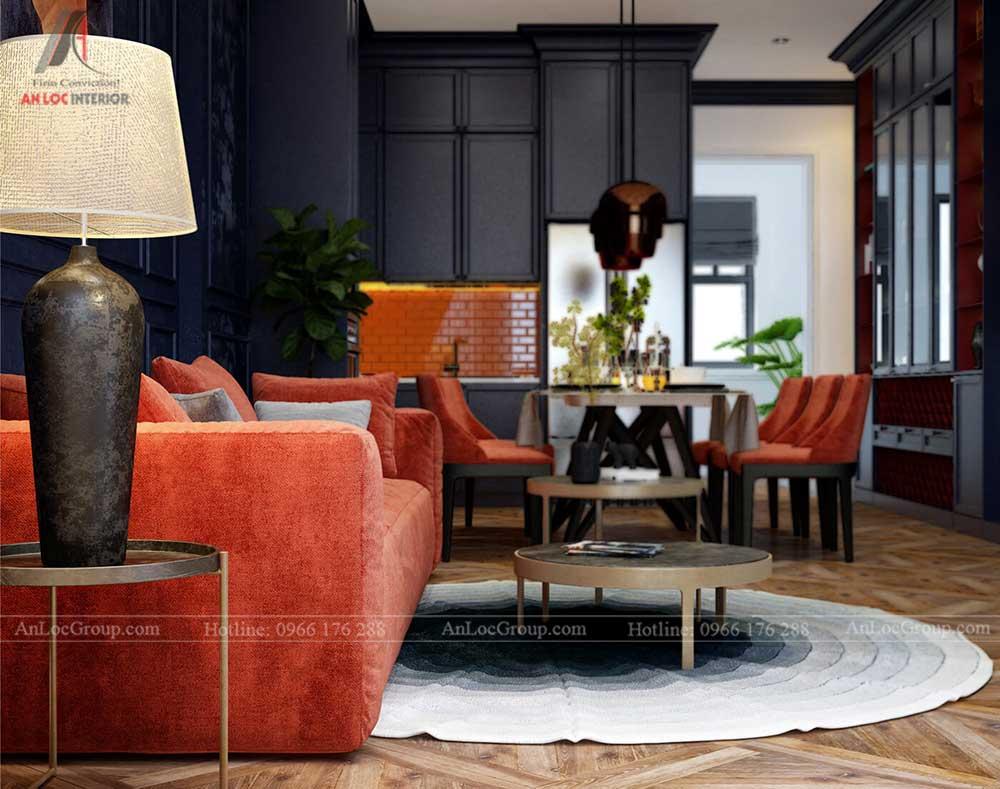 Nội thất chung cư The One Saigon 80m2 phong cach luxury 3