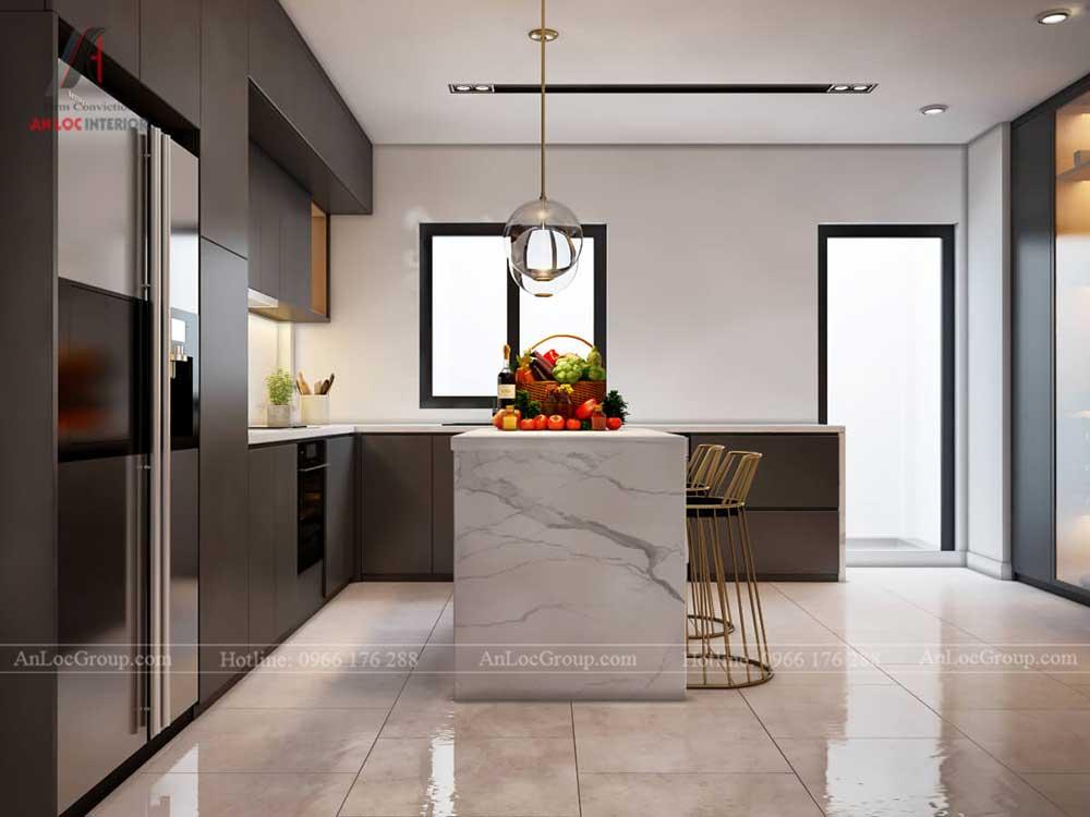 Thiết kế nội thất biệt thự Lakeview City - Phòng bếp 2