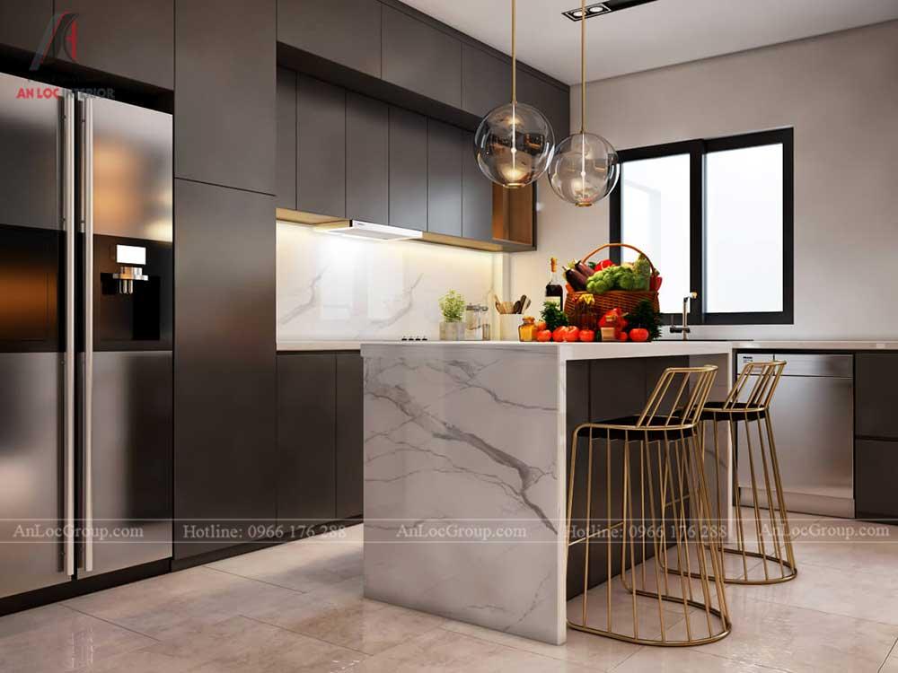 Thiết kế nội thất biệt thự Lakeview City - Phòng bếp 3