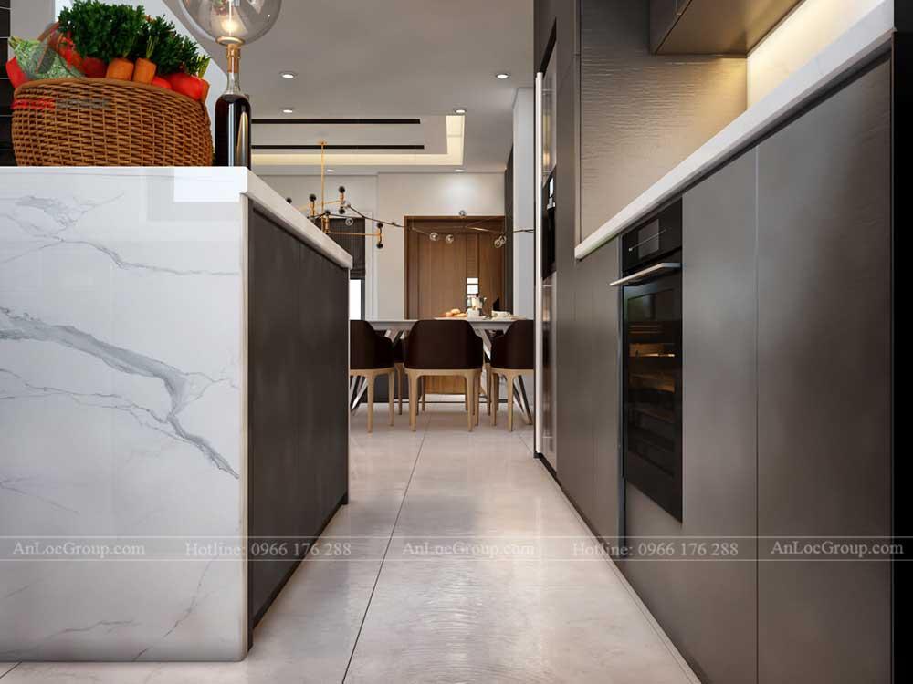 Thiết kế nội thất biệt thự Lakeview City - Phòng bếp 4