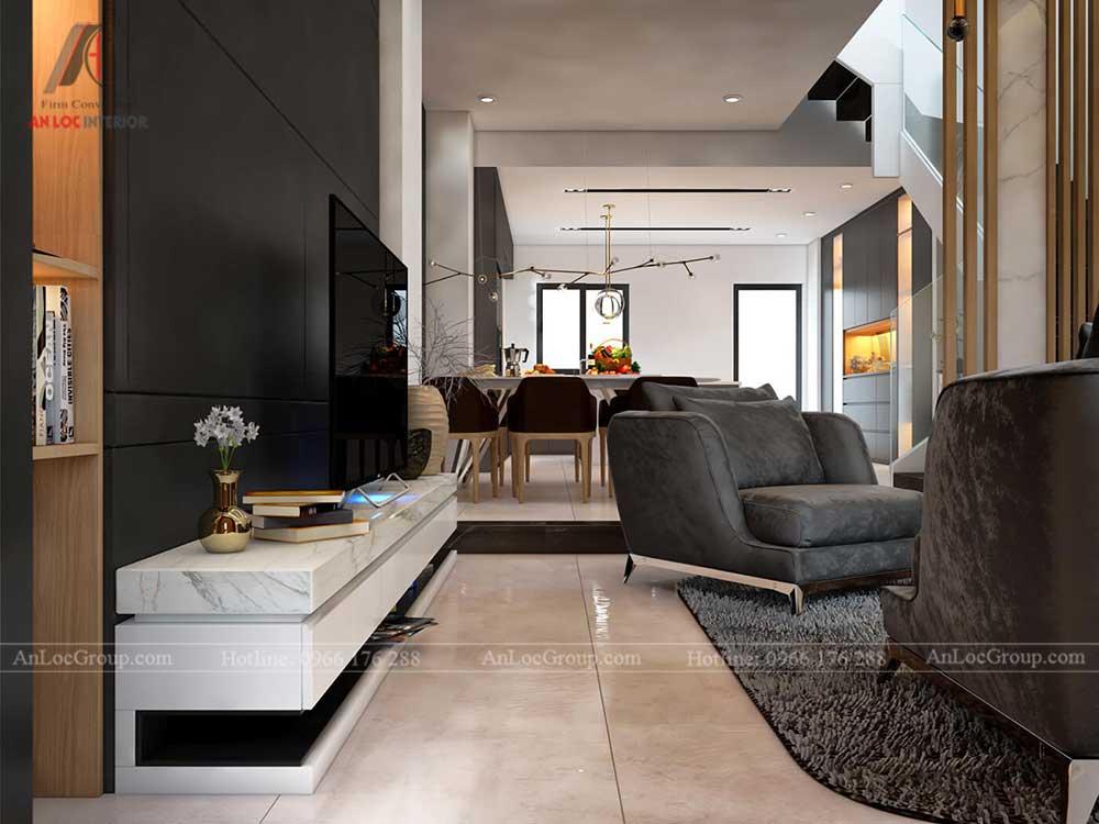 Thiết kế nội thất biệt thự Lakeview City - Phòng khách 2