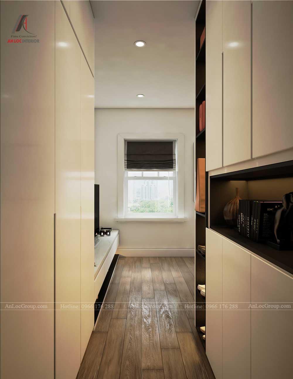 Thiết kế nội thất biệt thự Lakeview City - Phòng ngủ 1