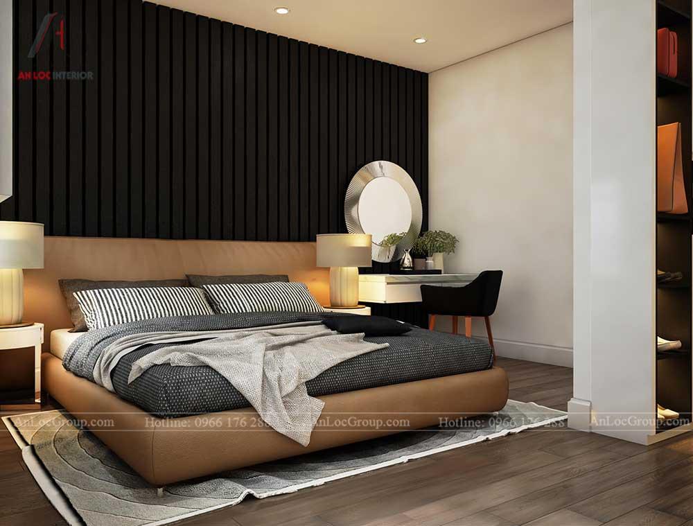 Thiết kế nội thất biệt thự Lakeview City - Phòng ngủ 3