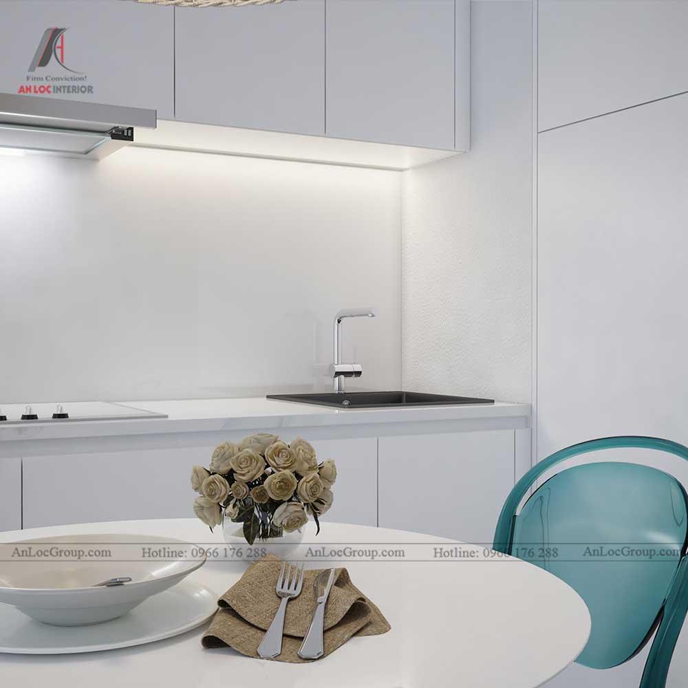 Thiết kế nội thất chung cư mini 30m2 - phòng bếp 1