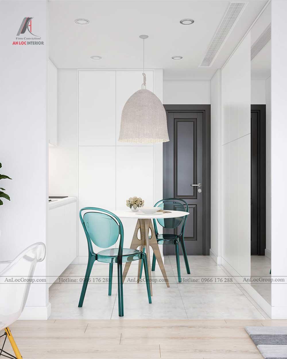 Thiết kế nội thất chung cư mini 30m2 - phòng bếp 2