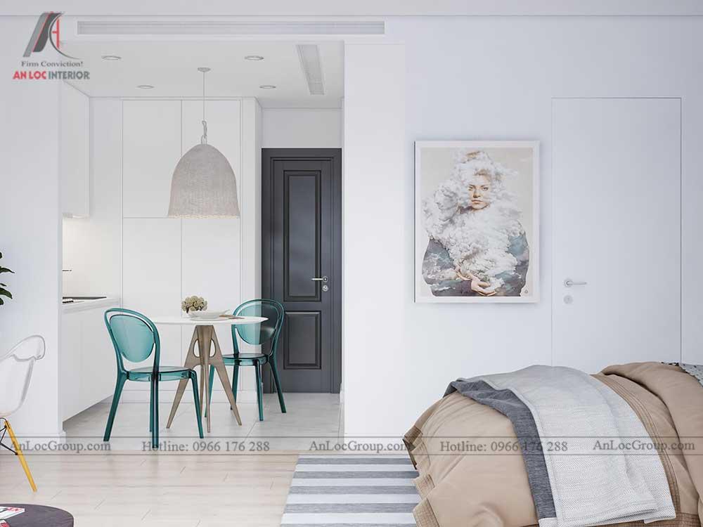 Thiết kế nội thất chung cư mini 30m2 - phòng bếp 3