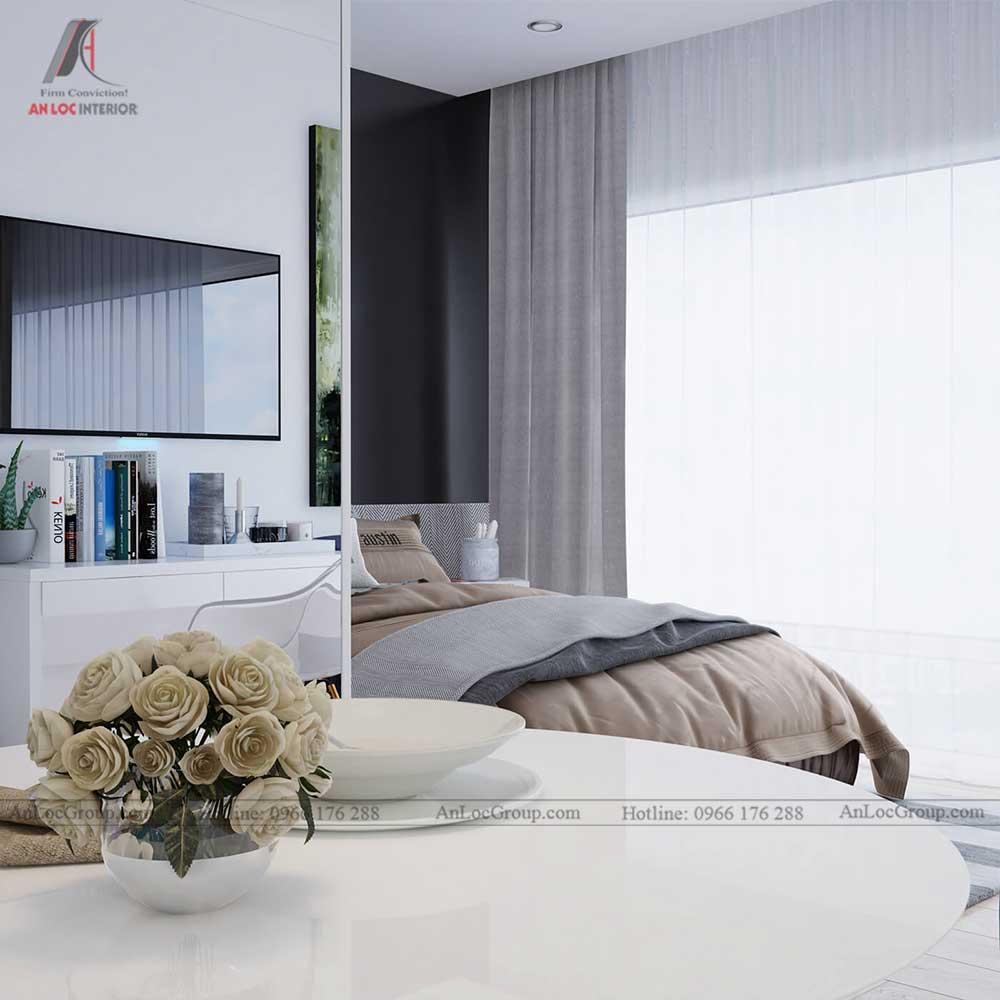Thiết kế nội thất chung cư mini 30m2 - phòng ngủ 1