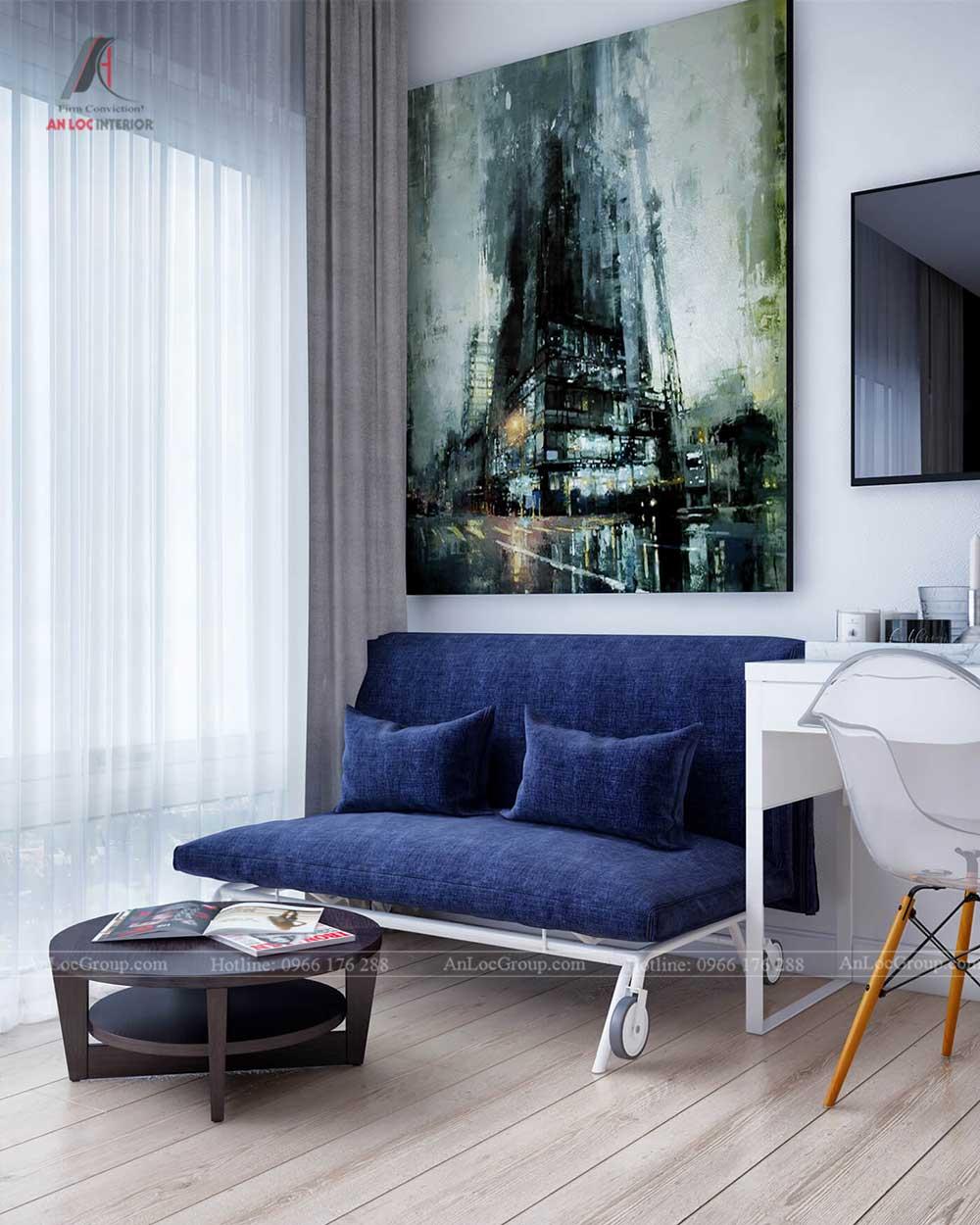 Thiết kế nội thất chung cư mini 30m2 tại NĐ Xã Đàn – Anh Hải