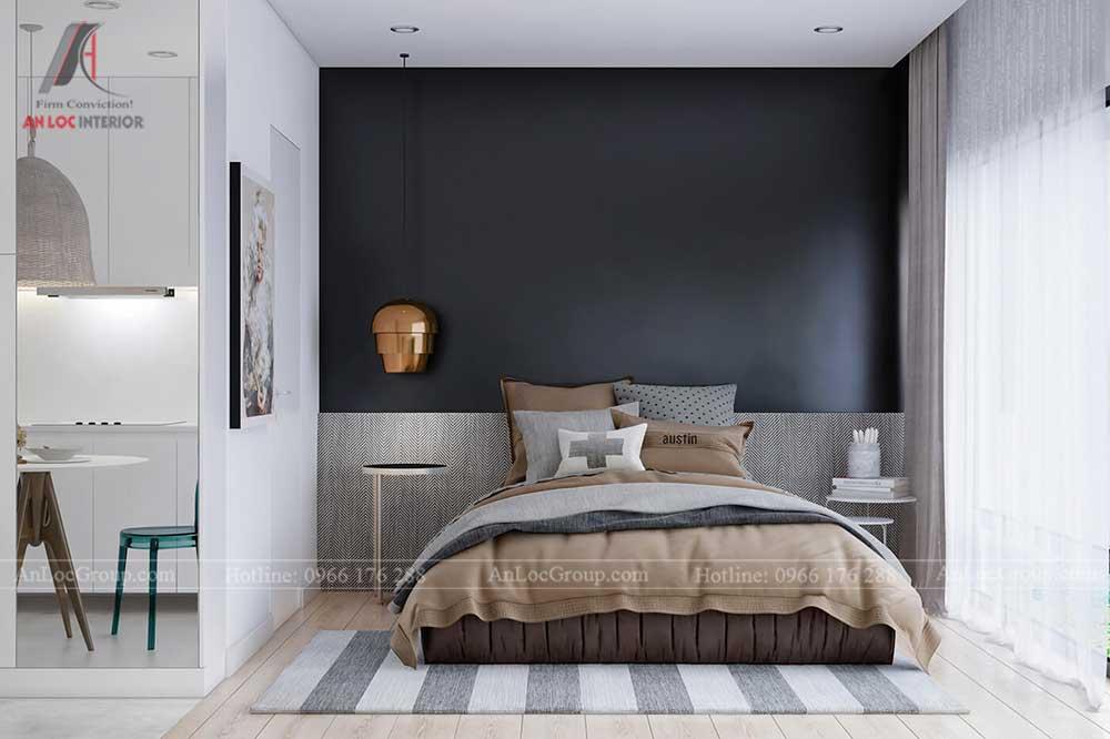 Thiết kế nội thất chung cư mini 30m2 - phòng ngủ 2
