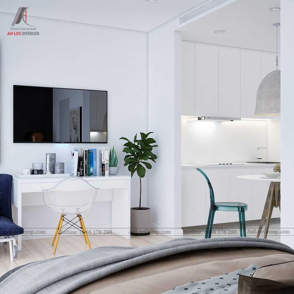Thiết kế nội thất chung cư mini 30m2 - phòng ngủ 4