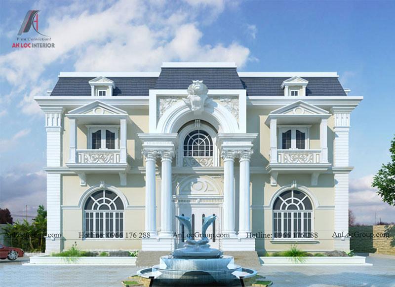 Thiết kế kiến trúc biệt thự phong cách tân cổ điển