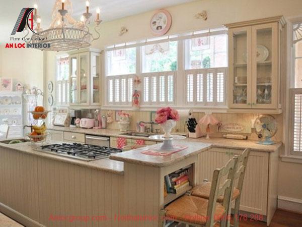 Thiết kế nội thất phòng bếp vintage