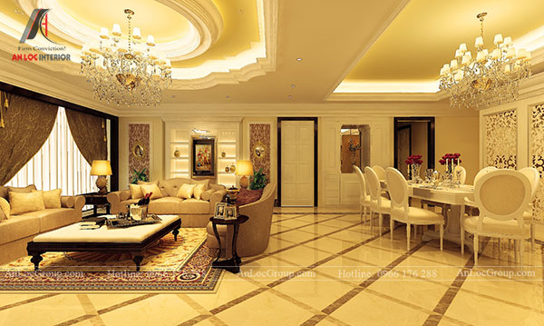 Không gian nội thất phong cách Classic style