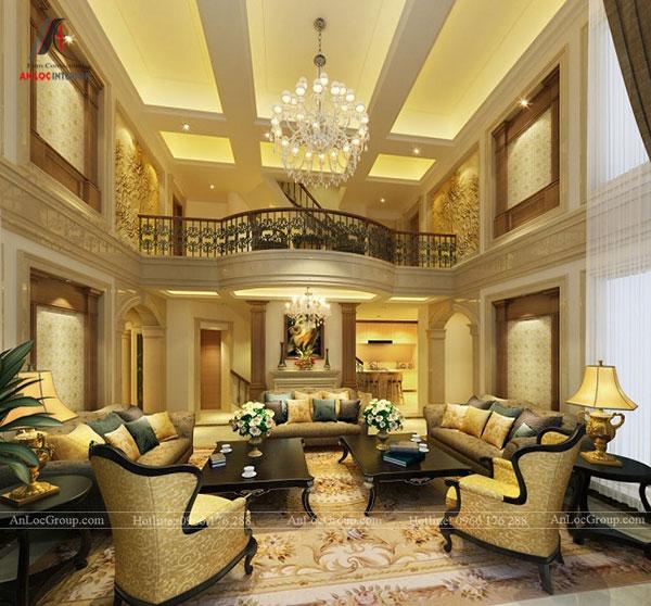 Nội thất phòng khách phong cách cổ điển