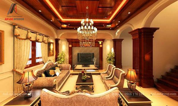 Đồ nội thất và chất liệu cao cấp được sử dụng trong phong cách cổ điển