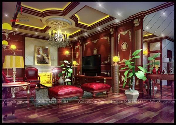 Ánh sáng được chú trọng trong không gian nội thất cổ điển