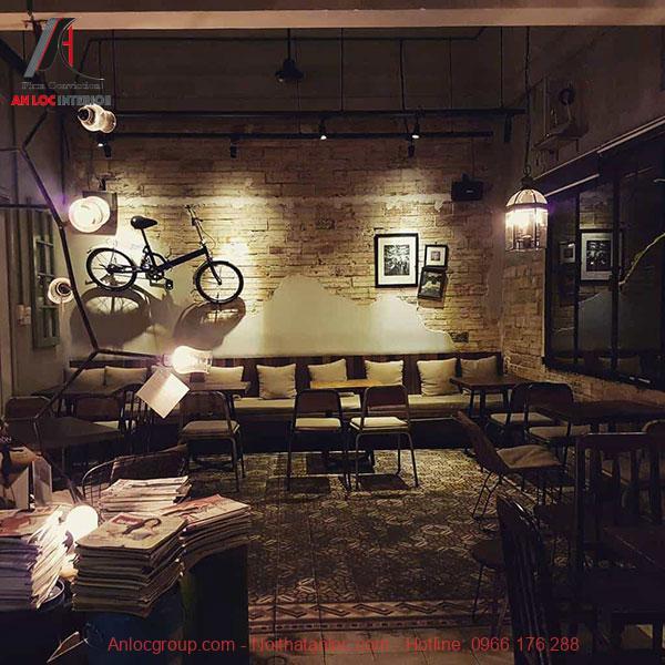 thiết kế quán cafe theo phong cách vintage