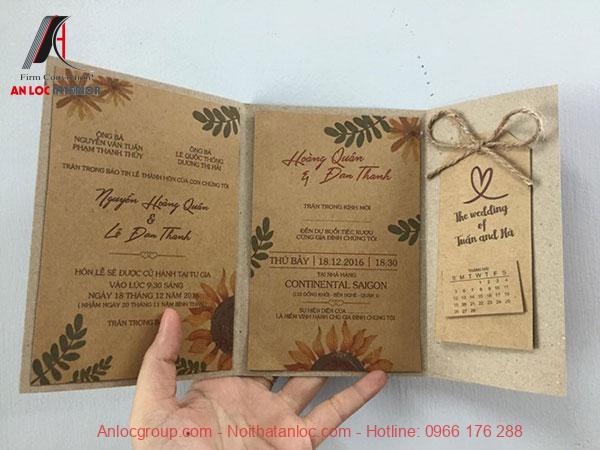 Thiệp cưới phong cách Vintage
