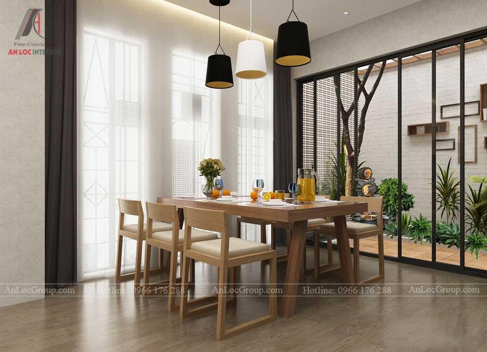 Thiết kế nội thất nhà phố - bàn ăn