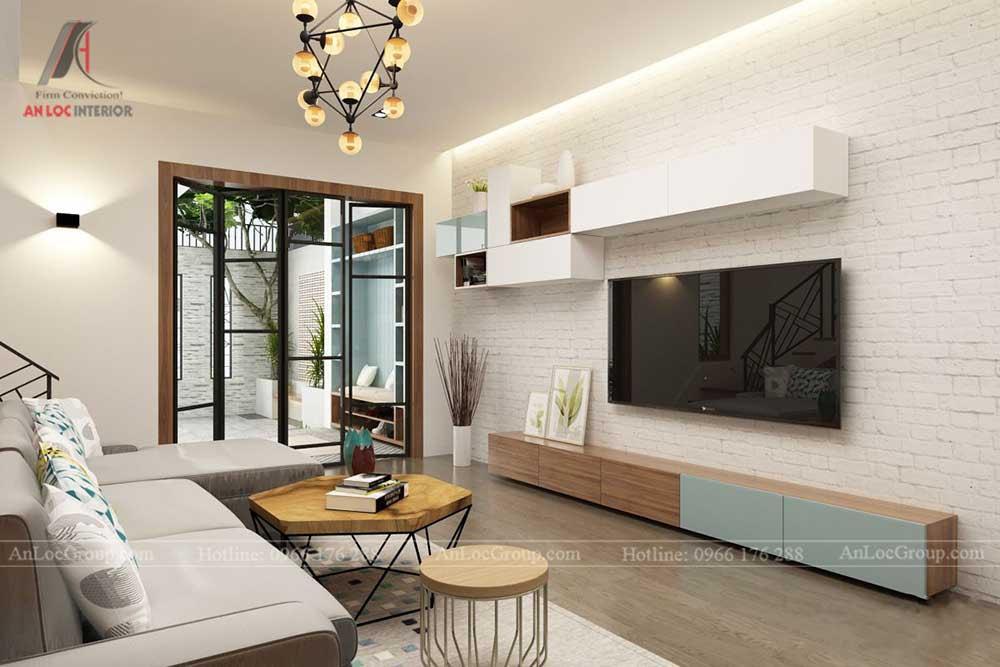 thiết kế phòng khách nhà phố