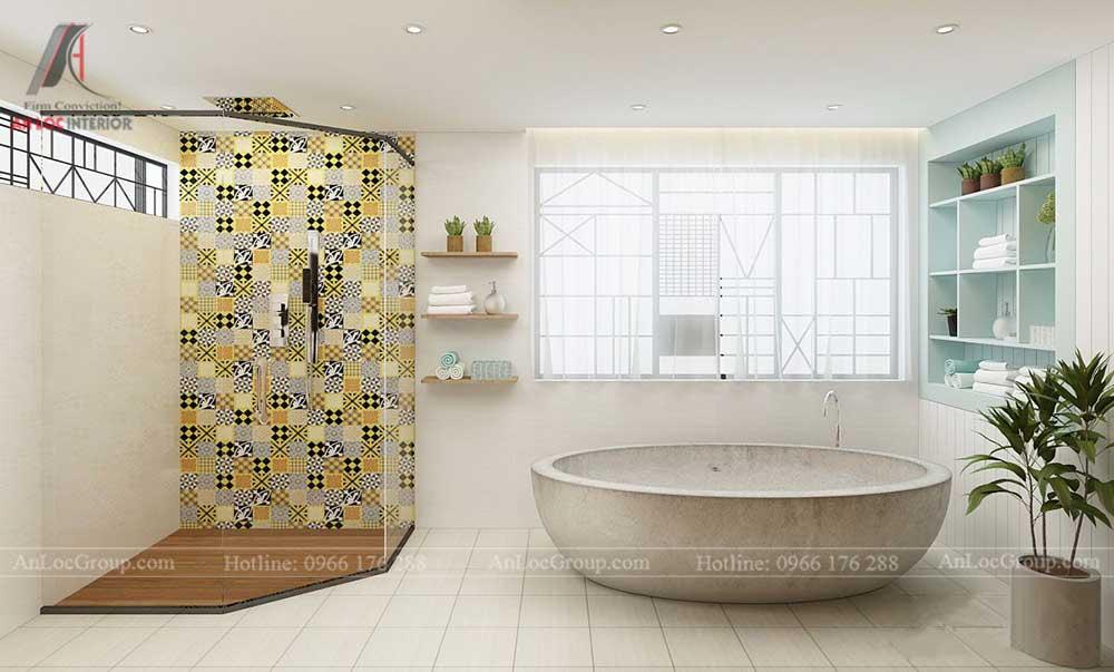 Thiết kế phòng tắm sang trọng cho nhà phố