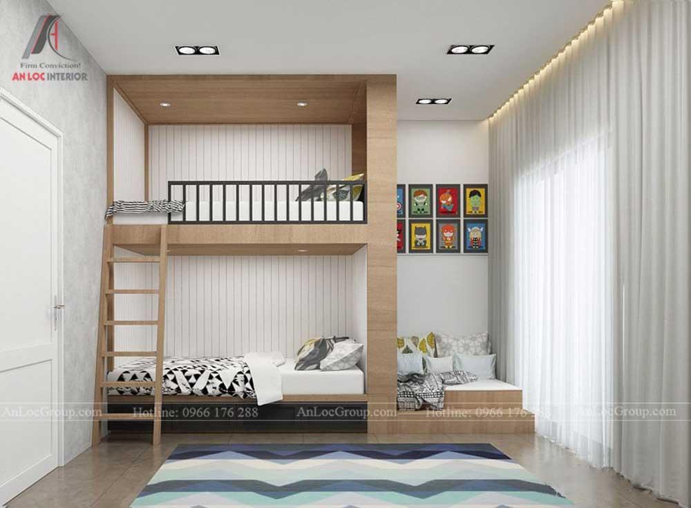 Thiết kế nội thất nhà phố đẹp - phòng ngủ trẻ em