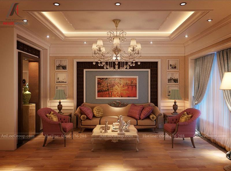 Thiết kế nội thất tân cổ điển sang trọng, quý phái