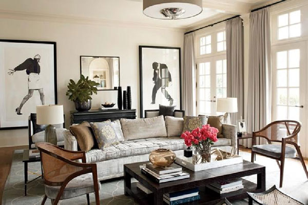 Trang trí phòng khách theo phong cách vintage