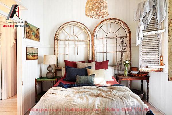 Phòng ngủ vintage nhẹ nhàng, quyến rũ
