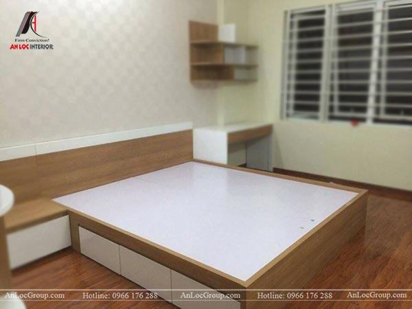 Giường ngủ gỗ công nghiệp MDF chống ẩm