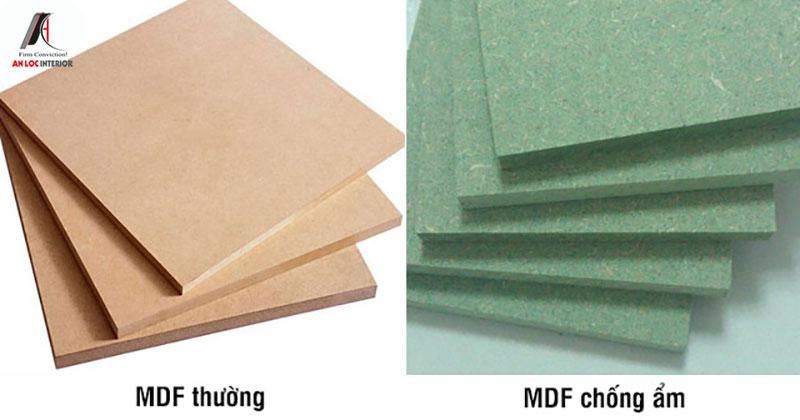 Ván gỗ MDF An Cường loại thường và loại chống ẩm