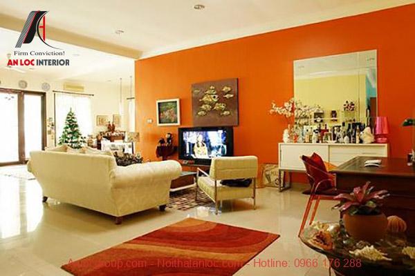 Màu sơn phòng khách theo phong thủy cho người mệnh Thổ