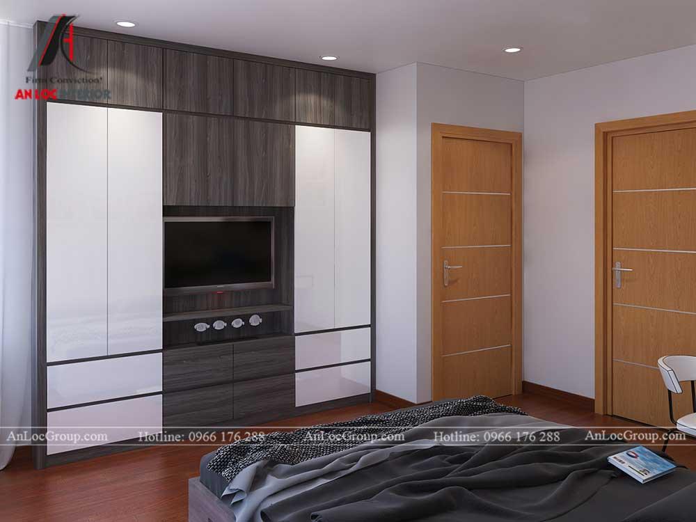 Thiết kế căn hộ 76m2 tại chung cư Vinhomes Sky Lake Phạm Hùng - phòng ngủ 2