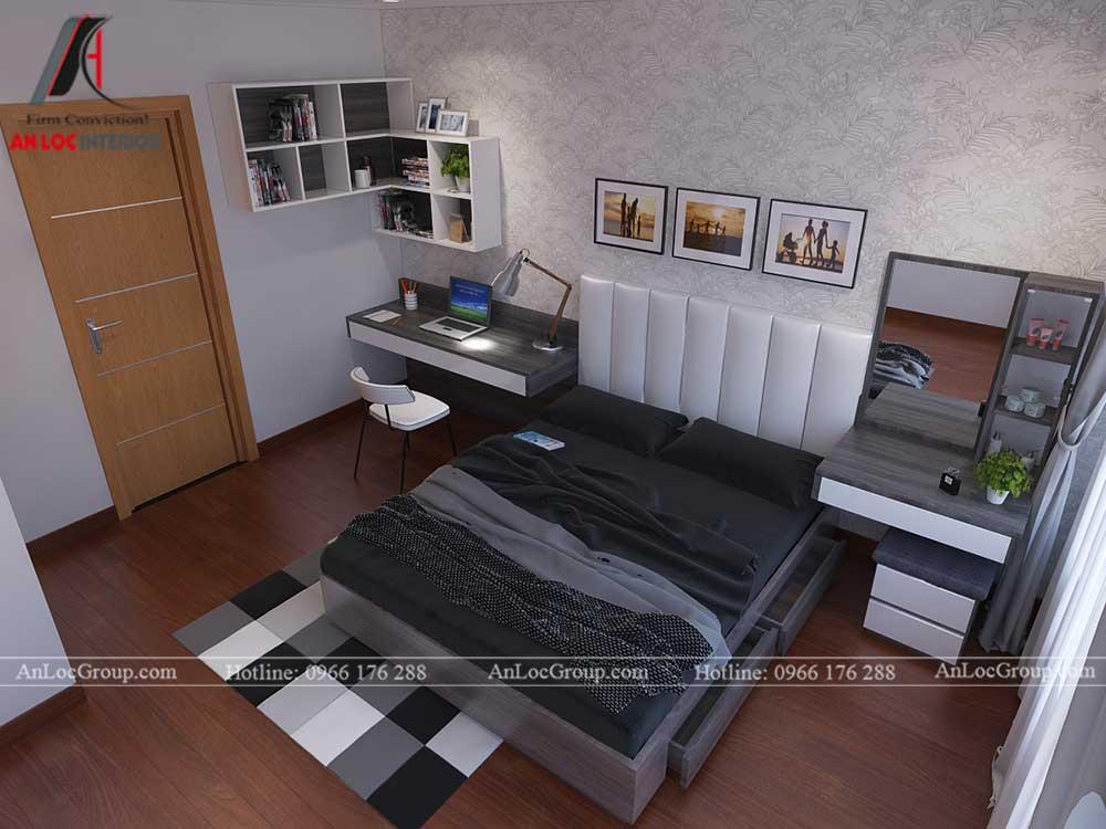 Thiết kế căn hộ 76m2 tại chung cư Vinhomes Sky Lake Phạm Hùng - phòng ngủ 3
