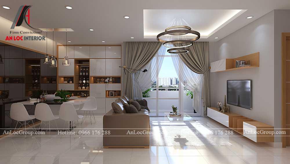 Thiết kế chung cư D'. Capitale Trần Duy Hưng - phòng khách 1