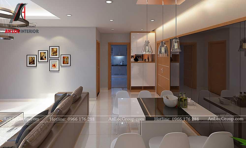 Thiết kế chung cư D'. Capitale Trần Duy Hưng - phòng khách 2