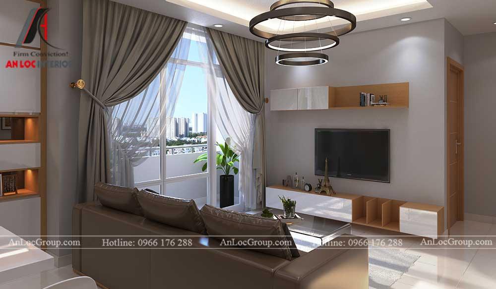 Thiết kế chung cư D'. Capitale Trần Duy Hưng - phòng khách 3