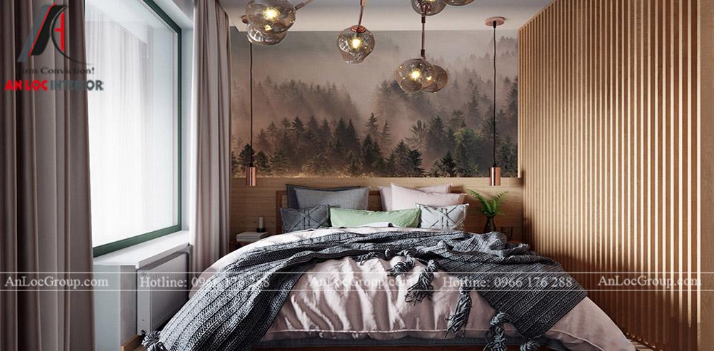 Thiết kế căn hộ 52m2 tại chung cư Sunshine Garden 34 Vĩnh Tuy - phòng ngủ 1