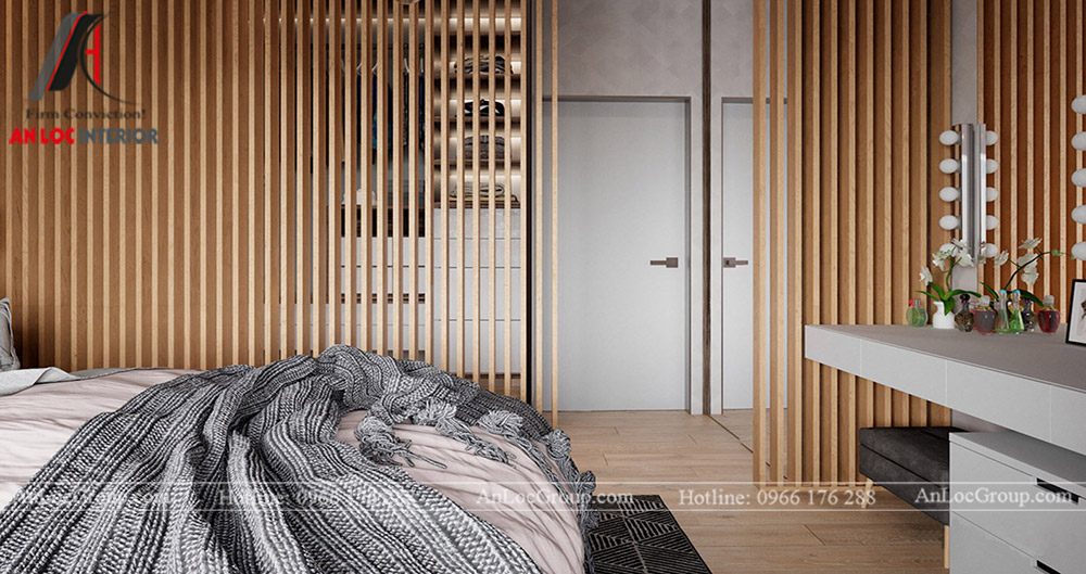 Thiết kế căn hộ 52m2 tại chung cư Sunshine Garden 34 Vĩnh Tuy - phòng ngủ 2