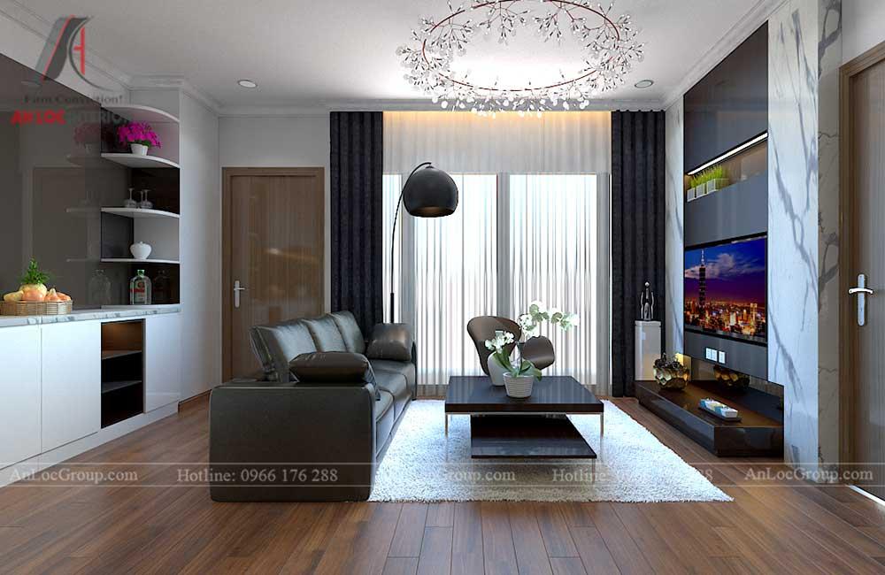 Thiết kế căn hộ 96m2 tại Vinhome Bắc Ninh 2