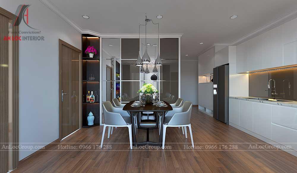 Thiết kế căn hộ 96m2 tại Vinhome Bắc Ninh 3