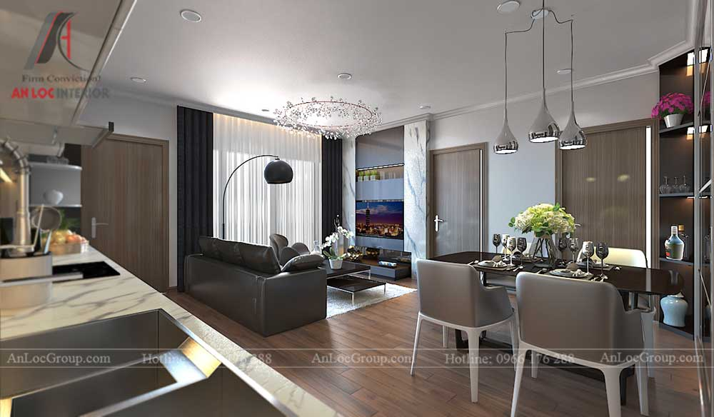Thiết kế căn hộ 96m2 tại Vinhome Bắc Ninh 4