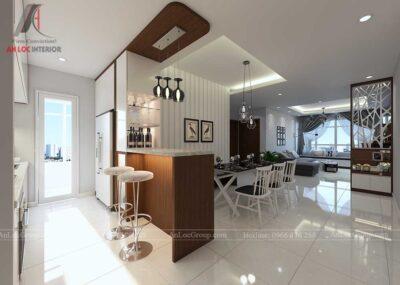 Thiết kế nội thất phòng khách chung cư vinhomes green bay 1