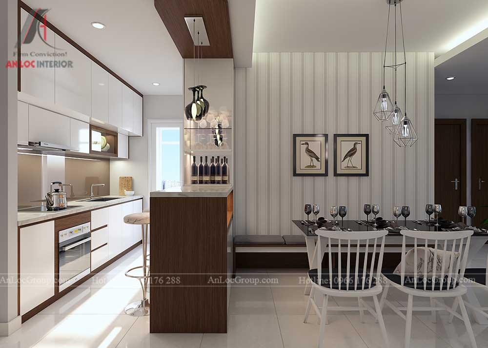 Thiết kế nội thất phòng khách chung cư vinhomes green bay 4