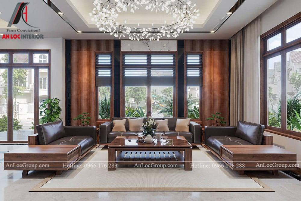 thiết kế nội thất nhà phố đẹp - phòng khách 2