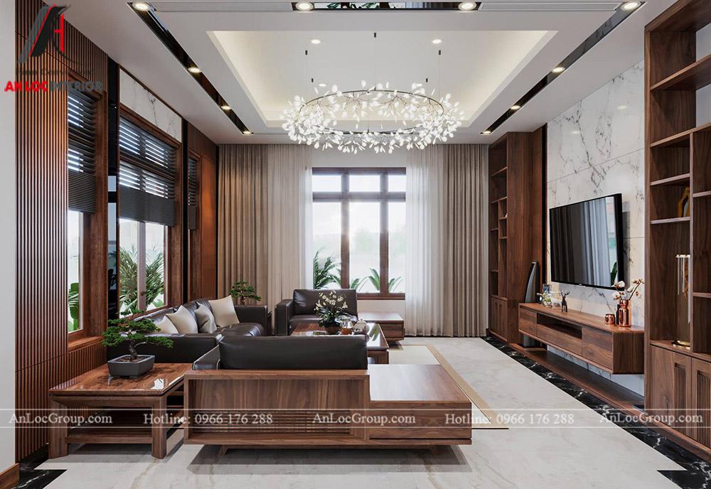 thiết kế nội thất nhà phố đẹp - phòng khách 1