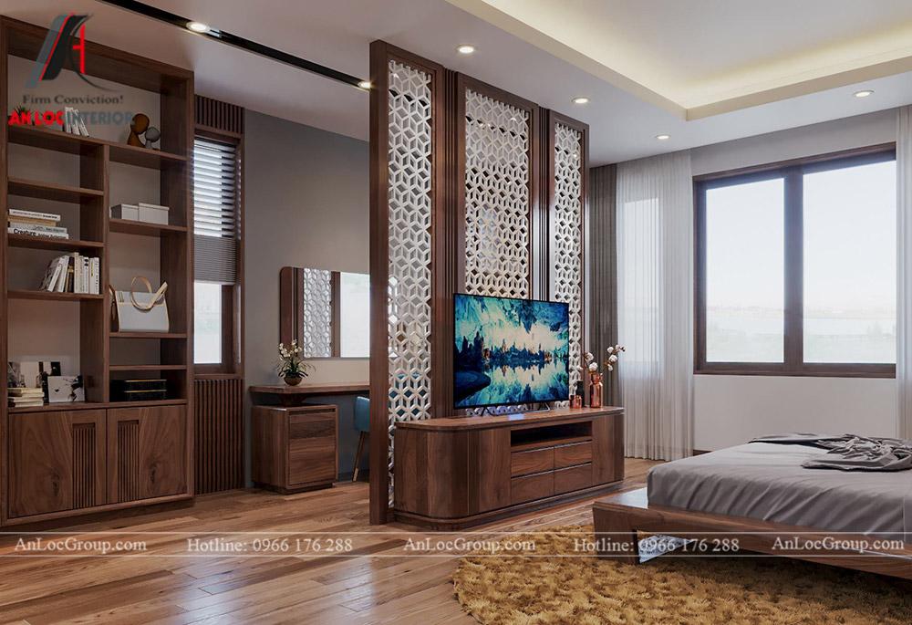 thiết kế nội thất nhà phố đẹp - phòng ngủ 1