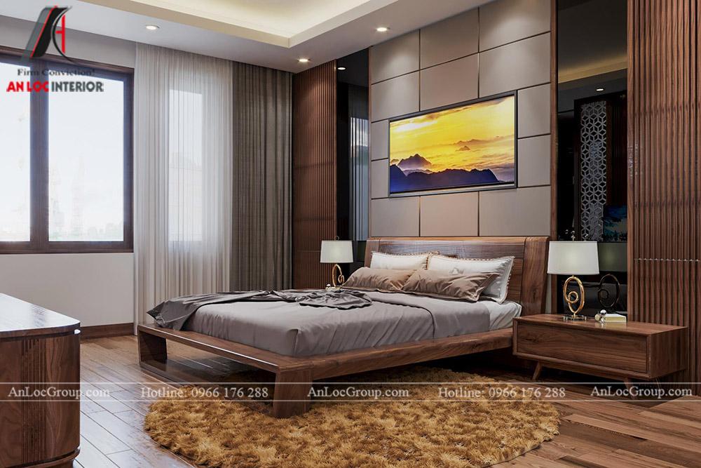 thiết kế nội thất nhà phố đẹp - phòng ngủ 2