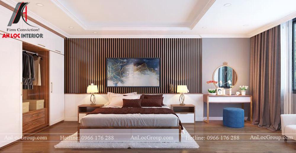 thiết kế nội thất nhà phố đẹp - phòng ngủ 3